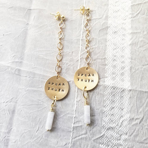 Speak Truth Earrings