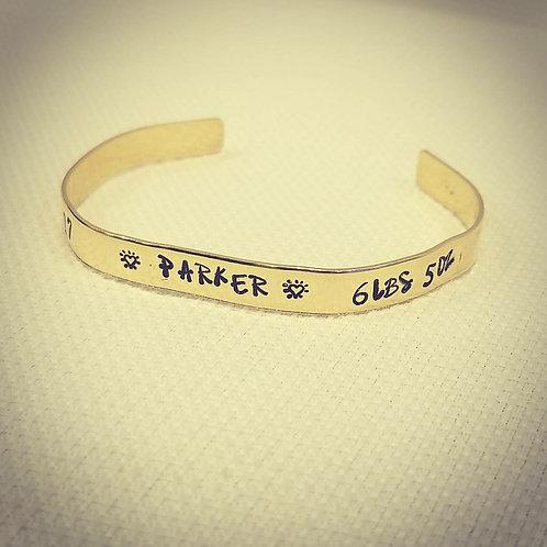 Stamped Brass Bracelet