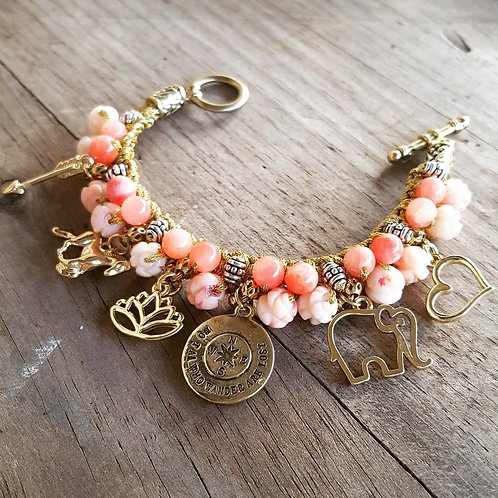 Knitted Charm Bracelet