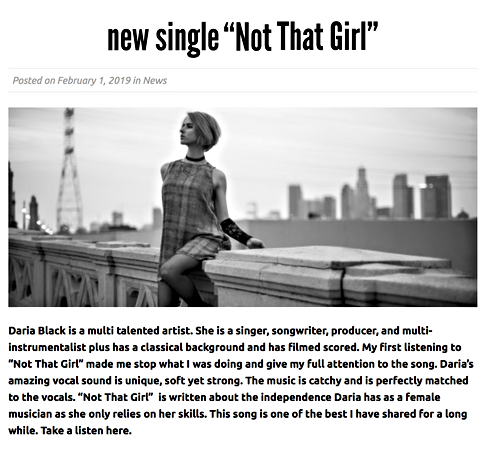 Music Injection - Not That Girl Review.p