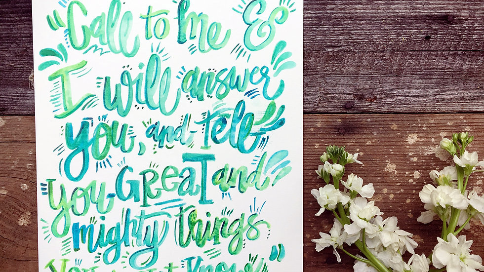 INSTANT DOWNLOAD | Jeremiah 33:3 8 x 10 Print