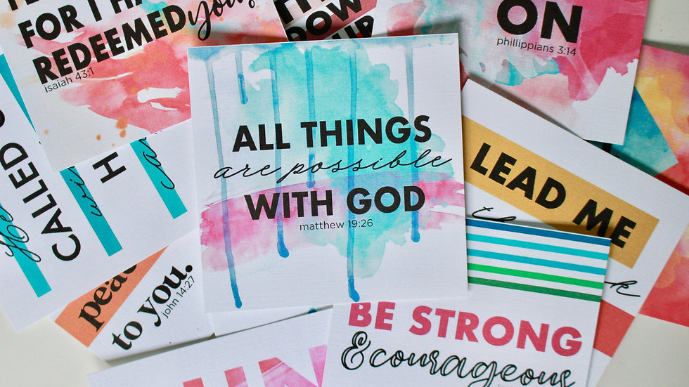 MIGHTY Scripture Memory Cards