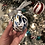 Thumbnail: Glass Ornament - White + Blue 1