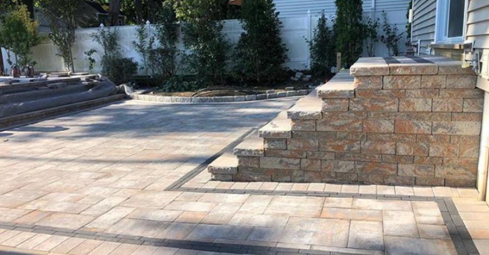 stone patio nicolock paving long island pavers masonry