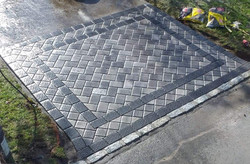 custom driveway pattern stones