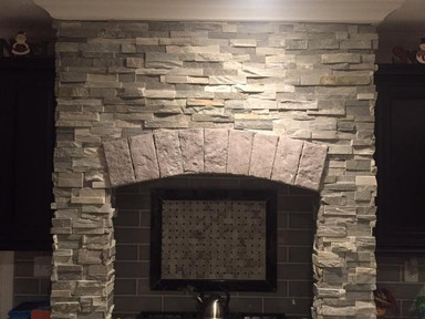 Natural Stone Indoor Stove Fireplace