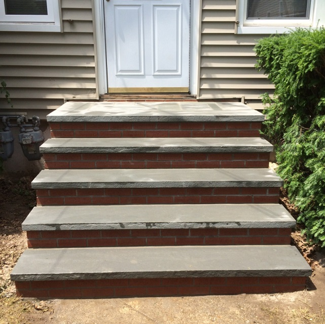 concrete stoop and stairs