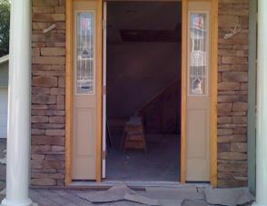 Front Entrance Stone Veneer