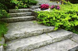 natural stone steps landscape design