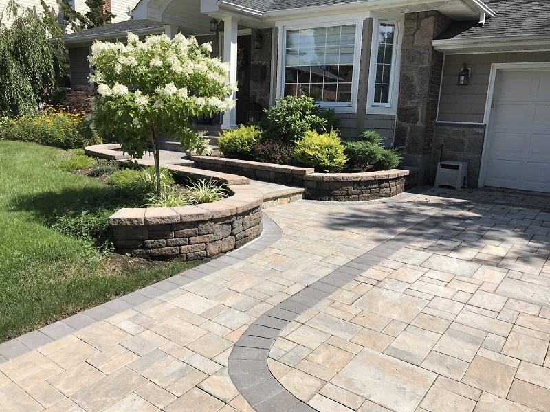 mason concrete paver stone work