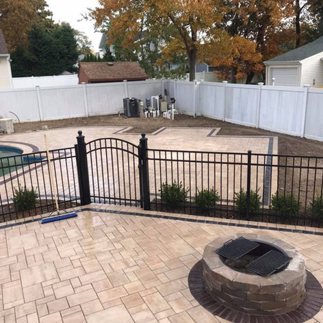Firepit and Pool Paver Patio