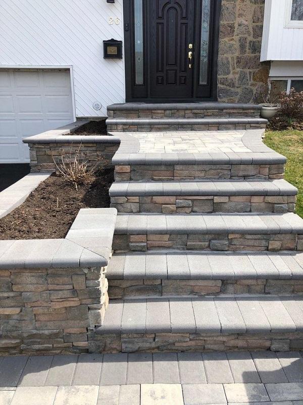 culture stone veneer retaining wall