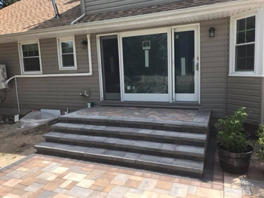 Wide Stoop and Paver