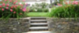 retaining wall stone slate landscape design