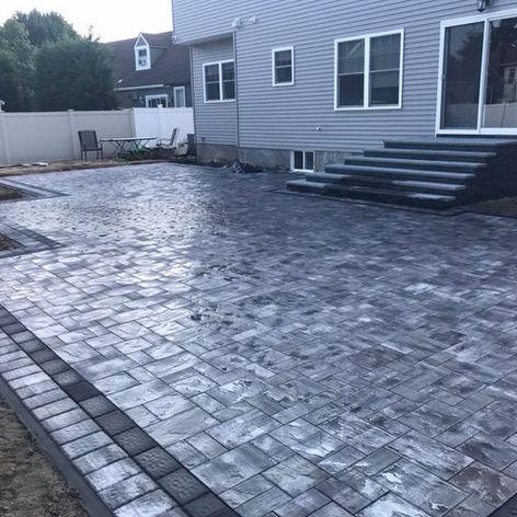 Gray Stone Patio