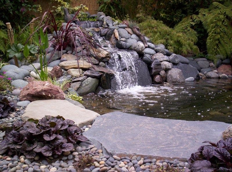pond creation stone waterfalls
