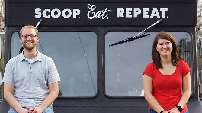 Ben and Wendy Treadwell Birmingham Alabama Bendy's Cookies & ice Cream food truck