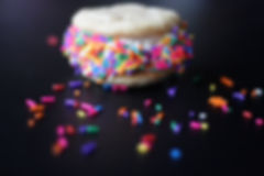 Ice Cream Sandwich with sprinkles