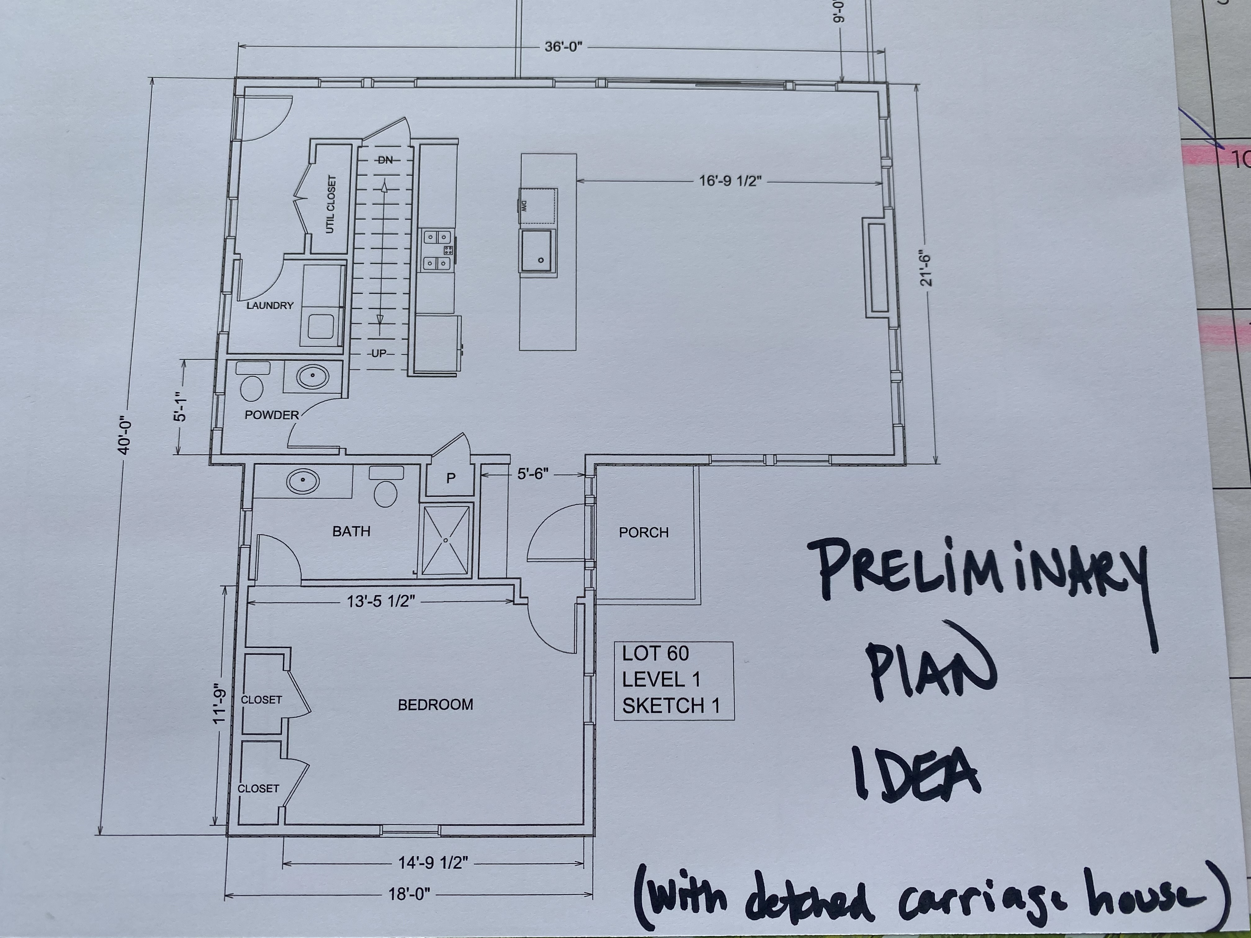 Lot 60 Plan idea Level 1
