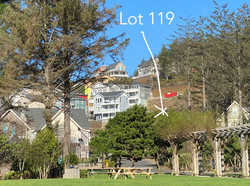 Lot 119 - Location on hill