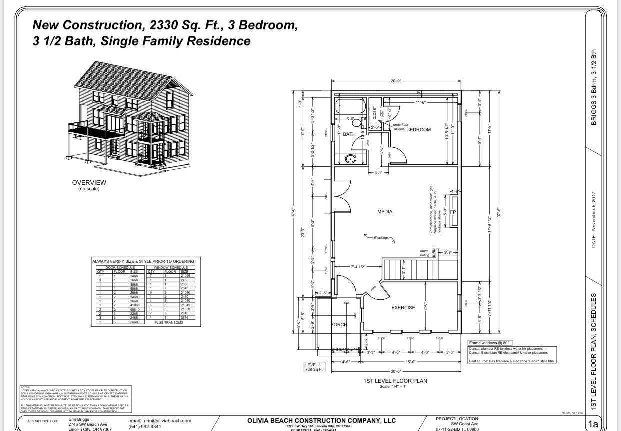 2333 SW Coast Ave - Floor Plan - Level 1