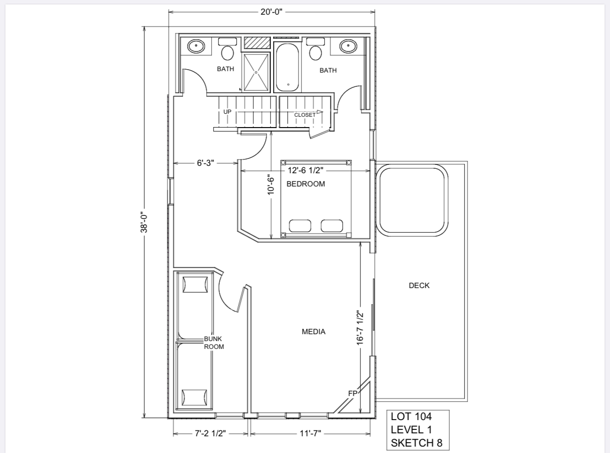Lot 104 - $540 - Floor Plan Level 1