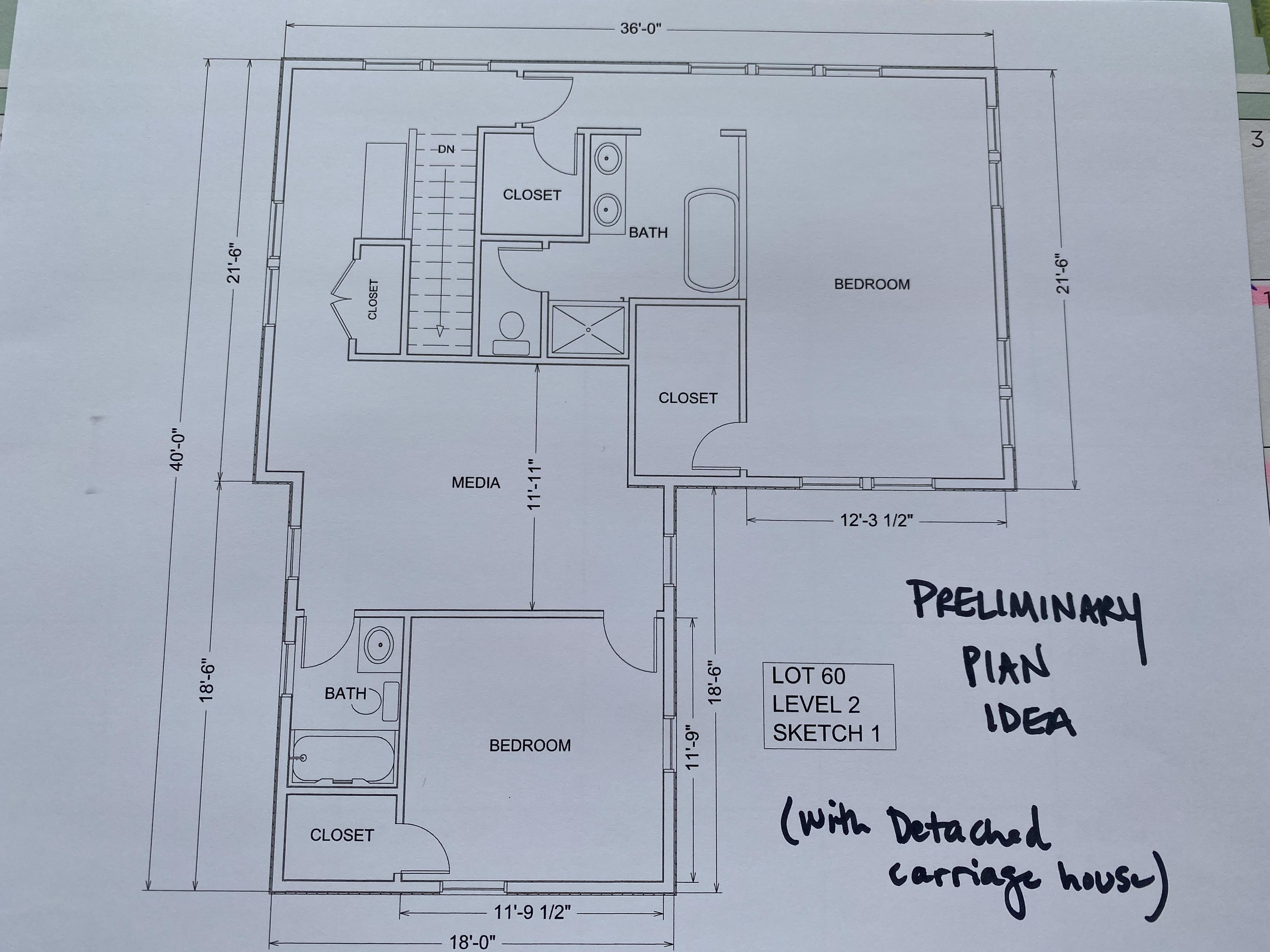 Lot 60 - Level 2 Plan idea