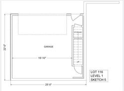 Lot 116 - level 1 - Garage or Optional Bonus Area