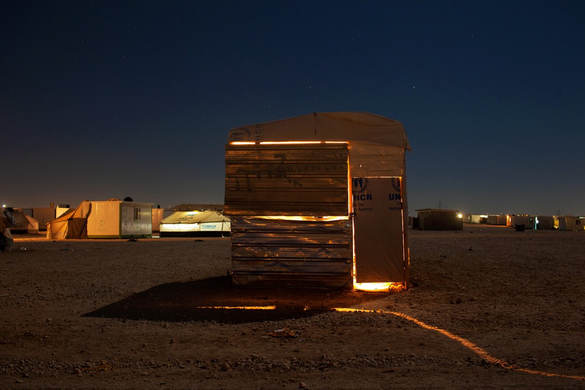 From the Series, Night in Al Zaatari refugee camp