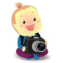 baby-holding-digital-camera-vector-illus