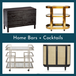 Home Bars + Cocktails