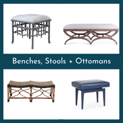 Benches, Stools + Ottomans