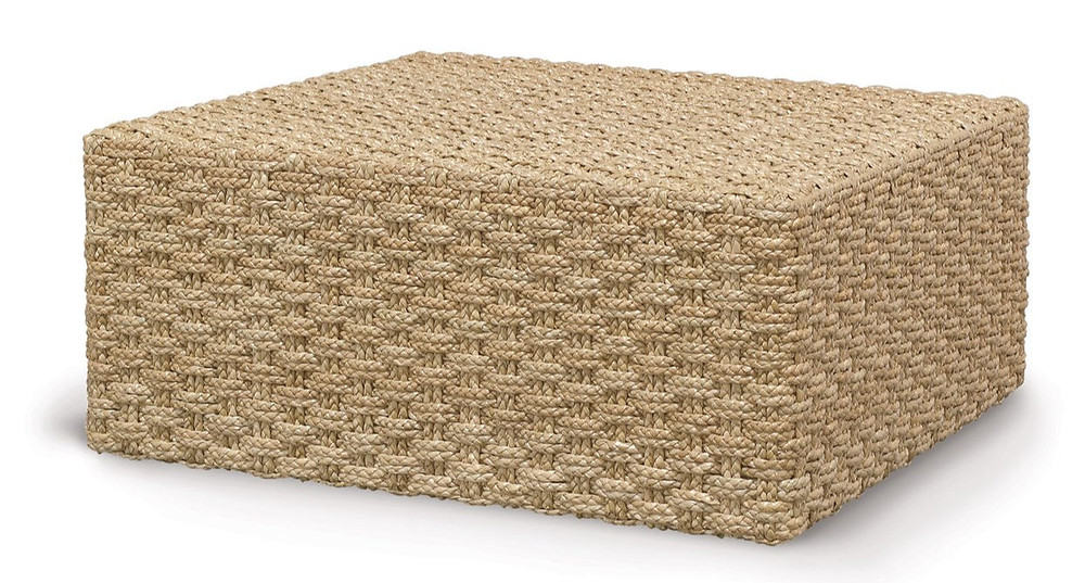 Solid coastal square woven seagrass coffee table will add sophistication to your living or family room new canaan ct