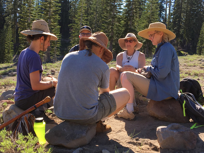 Ritual Gathering on Mt. Shasta