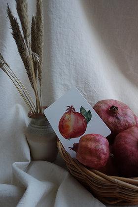 Postkarte Granatapfel