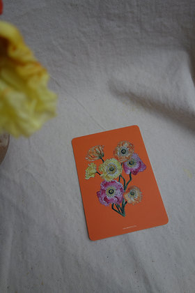 Postkarte Mohnblumenstrauß