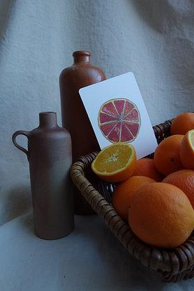 Postkarte Orange