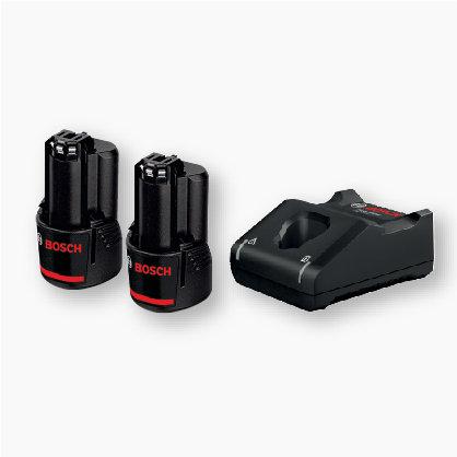 Starter Kit 12V 2.0 Ah (2 Batteries) + GAL 12V-40 (1 Charger)