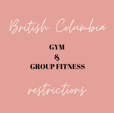 B.C. COVID-19 Restrictions: What About Gyms and Group Fitness Activities?