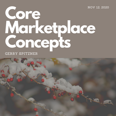 November 12: Core Marketplace Concepts Webinar - STOP TRYING TO SELL WITH MARKETING