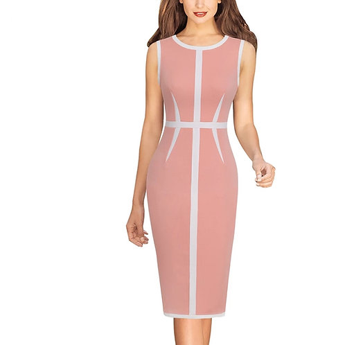 Vfemage Elegant Colorblock Dress