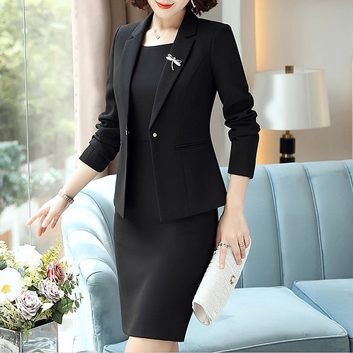 Lenlot One Button Jacket & Sheath Dress