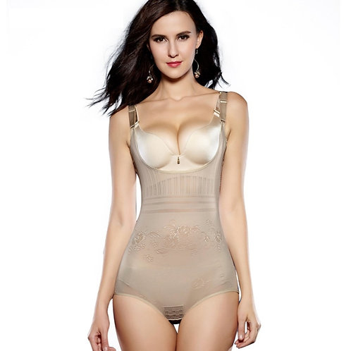Stylism Open-Bust Bodysuit