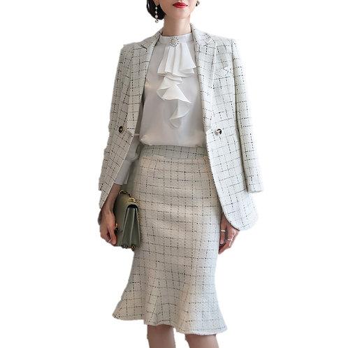 Lenlot Double Breasted Skirt Suit