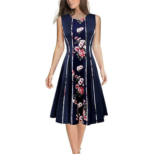 Vfemage Sleeveless Fit and Flare Dress