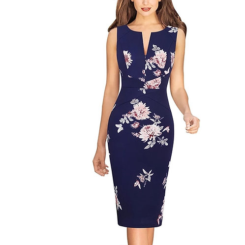 Vfemage Floral Sleeveless Dress