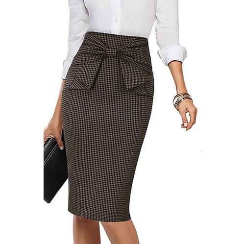 Vfemage Bow Waist Skirt