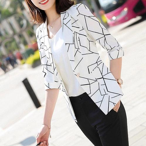 Lenlot Abstract Stripe Blazer