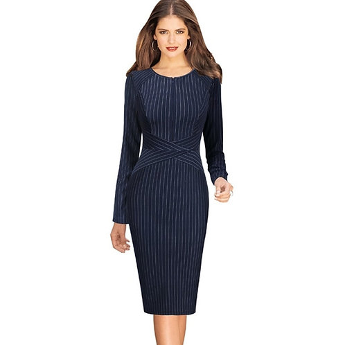 Vfemage Zip Front Midi Dress