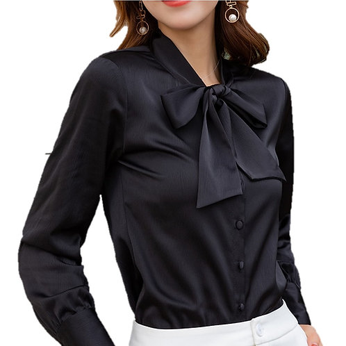 Lenlot Satin Tie Neck Blouse
